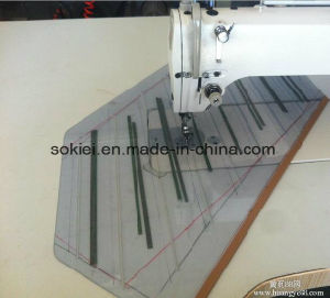 Computer Template Long Arm Used Overlock Sewing Machine for Leather Jeans Fabric pictures & photos