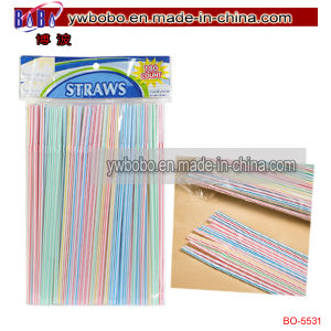 Home Store Multicolored Flexible Plastic Straws Party Ornament (BO-5531) pictures & photos