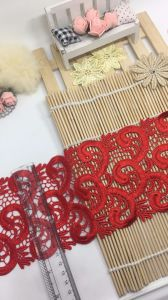 New Design 11cm Width Embroidery Trimming Nylon Polyester Lace for Garments & Home Textiles & Curtains pictures & photos