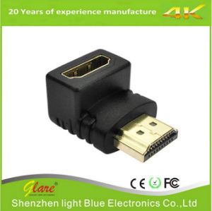 90 Degree HDMI Male to Female Adapter pictures & photos