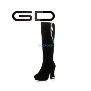 Gd Comfortable Thick Heel Over Knee Boots for Women pictures & photos