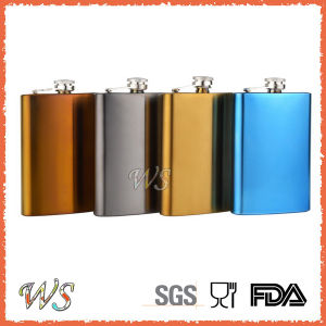 Ws-HP13 Plated 6oz Hip Flask for Wine & Liquor