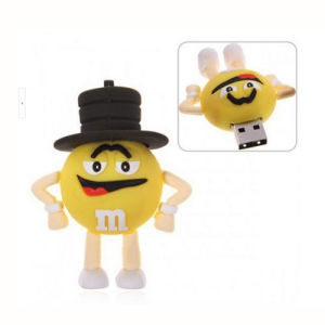 Creative M Bean Gentleman USB Flash Drive Can Be Customized Logo Open Mold 256GB pictures & photos