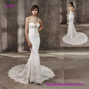 Sophisticated and Sexy Full-Length Mermaid Bridal Gown with Beautiful Hem pictures & photos
