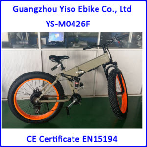 26′′ Foldable Full Suspention Aluminum Electric Mountain Beach Snow E Bike pictures & photos