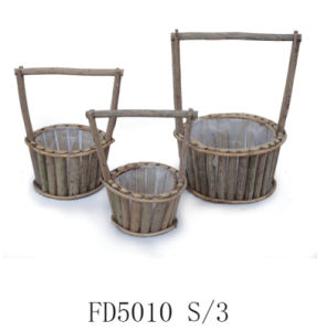 2017 Manufacturer Hot Sale Round Wooden Flower Home and Garden Planter pictures & photos