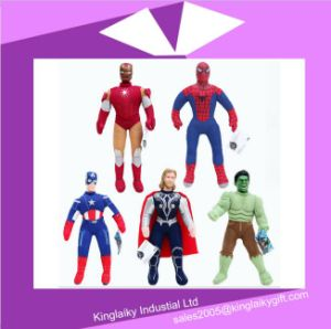 Hot Sell Plush Cartoon Characters Toy Captain America Stock for Promotion pictures & photos