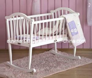 China Rocking Wood Baby Crib Cot Cradle China Rocking