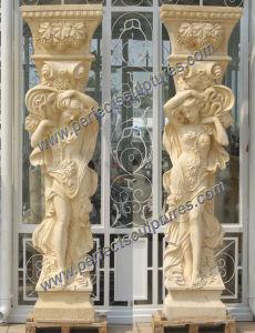 Roman Column with Stone Marble Granite Sandstone (QCM118) pictures & photos