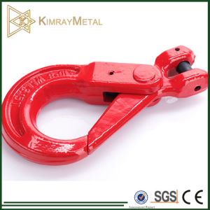 Red Coated Drop Forged G80 Clevis Self Locking Hook pictures & photos