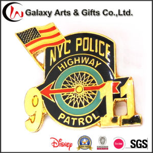 High Quality American 911 Event Badge Pins/ Gold Badges /Metal Security Badges pictures & photos