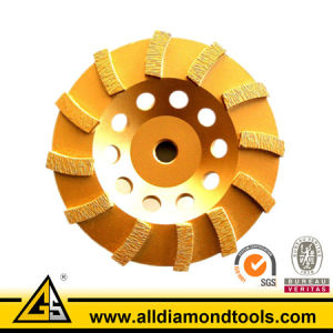Spiral Diamond Grinding Disc for Concrete and Masonry - Hscw pictures & photos