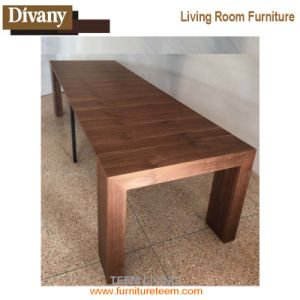2017 New Dining Room Design Walnut Wood Dining Extendable Table Set pictures & photos