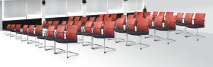 Office Visitor Chairs Guest Chairs Boardroom Chairs Red Reception Chairs pictures & photos