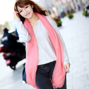 100% Worsted Spinning Cashmere Shawl Fashion Scarf (12-BR320101-1) pictures & photos