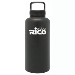 Durable Stainless Steel Vacuum Sports Bottle Black 64oz pictures & photos