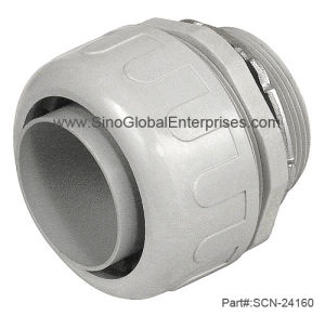 PVC Plastic Liquid Tight Straight Connector (SCN-24160)