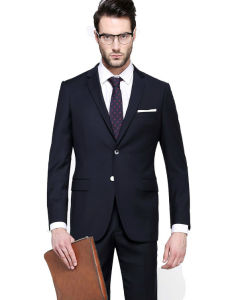 New Fashion Italian Wool Business Black Suit for Men pictures & photos