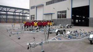Australian Hot Dipped Galvanized Double Axle Boat Trailers pictures & photos