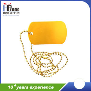 Colorful Metal Dog Hang Tag with Chain for Pet Product pictures & photos