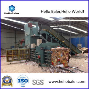 Automatic Waste Paper Baler Strapping Machine with Hydraulic Press pictures & photos