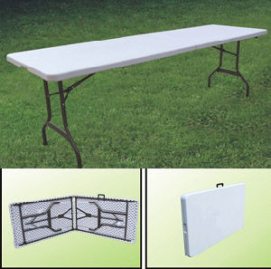 8ft Blow Mold Plastic Banquet Folded Table (SY-240Z) pictures & photos