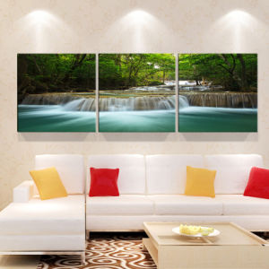 3 Piece Modern Wall Art Printed Painting Waterfall Painting Room Decor Framed Art Picture Painted on Canvas Home Decoration Mc-239 pictures & photos