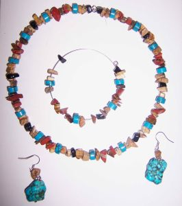 Fashion Natural Gemstone Crystal Amethyst Picture Jasper Necklace Jewelry Sets pictures & photos
