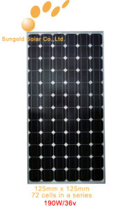 Mono PV Solar Panel 190 Watt