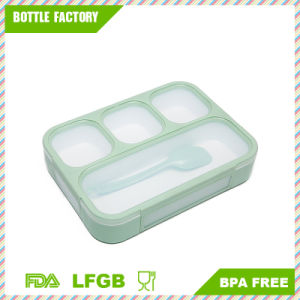 Gtx Japanese Lunch Bento Box Leak-Proof Sealing Food Container - 4 Compartments with a Spoon - BPA-Free Microwave-Safe Boxes pictures & photos