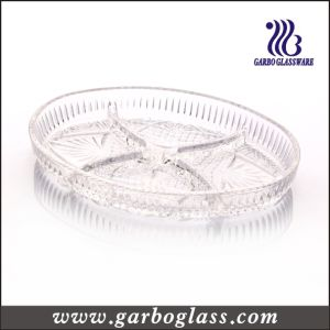 Clear Big Glass Sperate Plate (GB1728FZ) pictures & photos