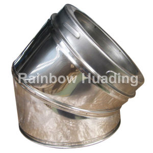 Twin Wall Stainless Steel 45 Degree Elbow for Chimney Fireplace pictures & photos
