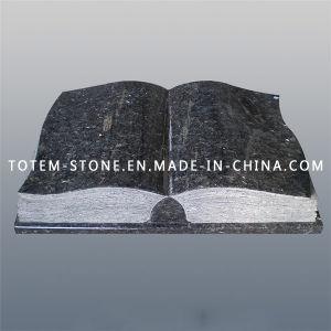 Design Granite Stone Book Shape Cemetery Memorial Headstones for Graves pictures & photos