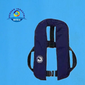 Inflatable Life Jacket Without Harness with Mesh on Back pictures & photos