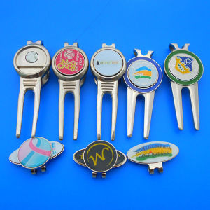 Golf Divot Repair Tool & Magnetic Ball Marker, Golf Ball Marker pictures & photos