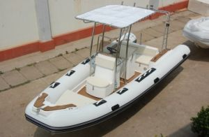 5.8 Meter Rigid Inflatable Boat with Teak Wood /5.8m Inflatable Boat (RIB580)