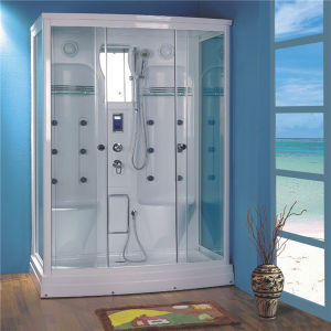 Safety Glass Steam Room Two Person Sliding Shower Cabin pictures & photos