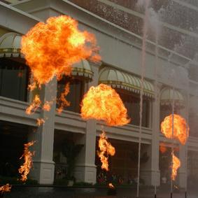 Musical Fire Spray Fountain