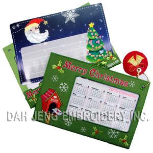 X′mas Embroidered Calendar Cards pictures & photos