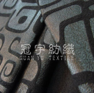 Printed Faux Suede Leather Fabric for Sofa Cover pictures & photos