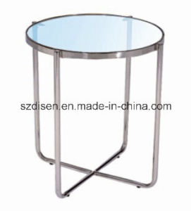 Stainless Steel with Glass Side Table / Coffee Table (DS-CT42) pictures & photos