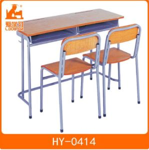 Plastic School Classroom Furniture with Wood Top pictures & photos