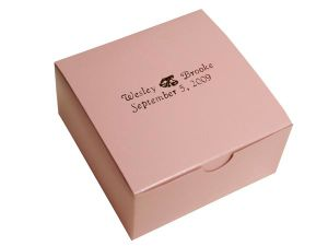 Elegant Design Hot Selling Pink Colour Cake Box (YY-K0010) pictures & photos