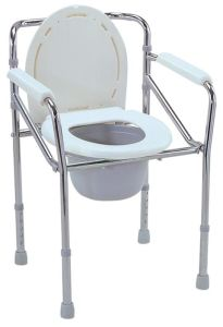 Steel Foldable Commode Chair (SC-CC07(S)) pictures & photos