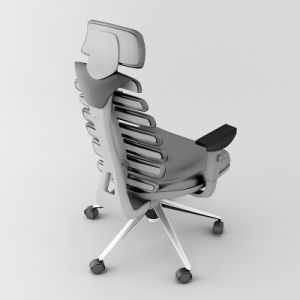 Fish Bone Ergonomic Game Chair with PU Leather pictures & photos