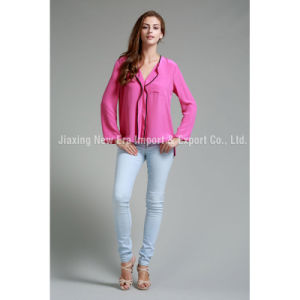Womens Fashion Silk Charmeusewoven Blouse&Top