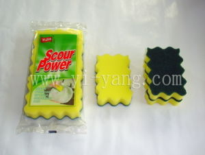 Kitchen Cleaning Sponge Scourer pictures & photos