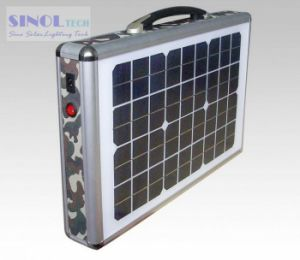 15W AC/DC Output Portable Solar Panel System Solar Home Generator pictures & photos