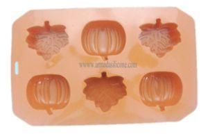 Pumpkin&Leaf Silicone Muffin Mould (AI-K117)