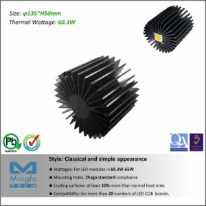 Diameter 135mm Height 50mm Thermal Resistance Rth 0.65 Cw CREE LED Aluminum Heat Sink